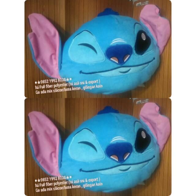 Bantal kepala boneka stitch stich lilo 100% dakron (jual jg tas anak playgroup )