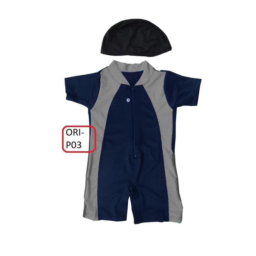 Baju Renang Bayi Murah Warna Dasar Dongker - P03