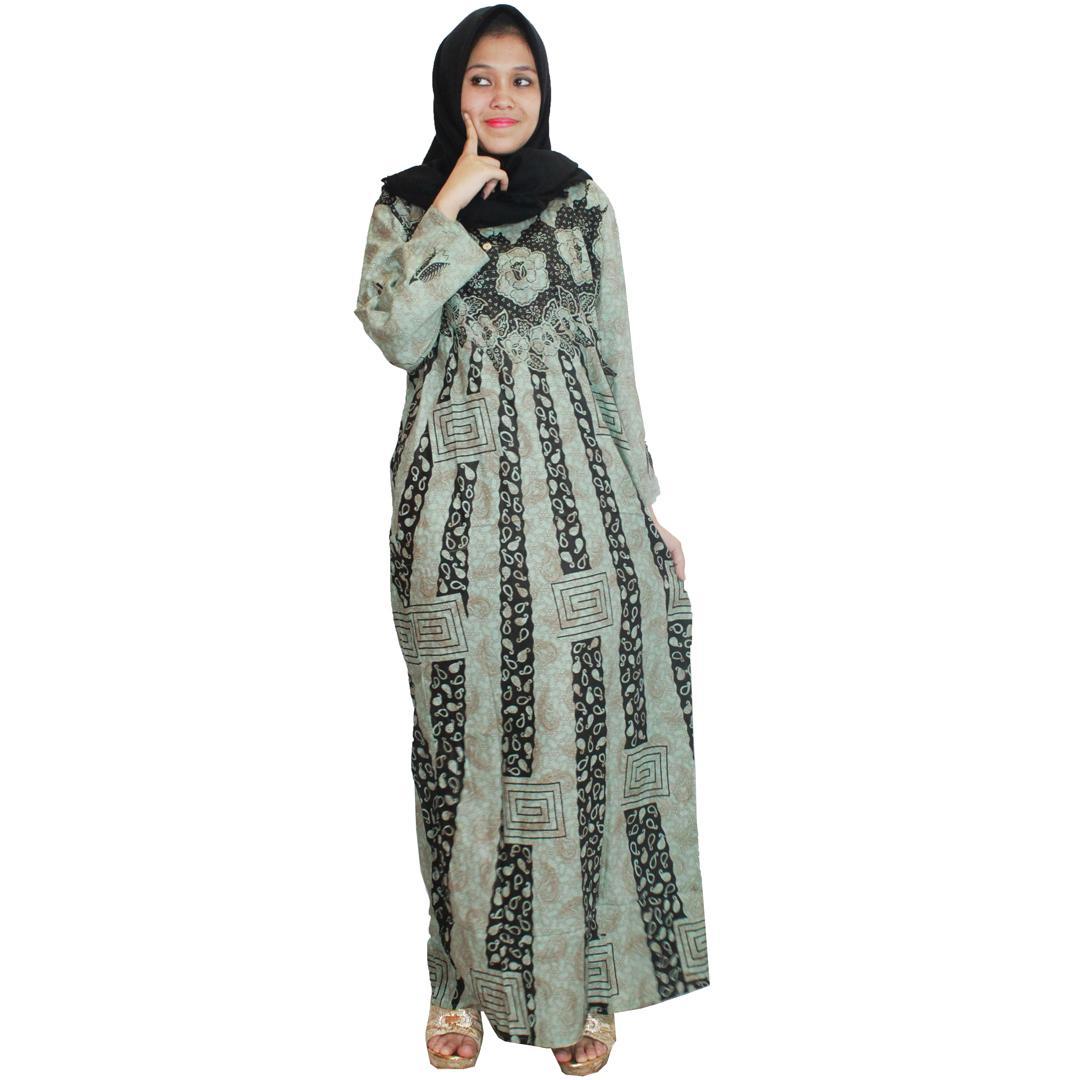 Pakaian Muslim Santai, Longdres Batik, Kancing, Bumil - Busui (LPT001-22) Batikalhadi Online