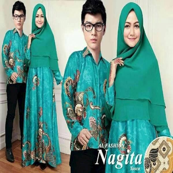 Couple Batik Sutra Syari Nagita Tosca
