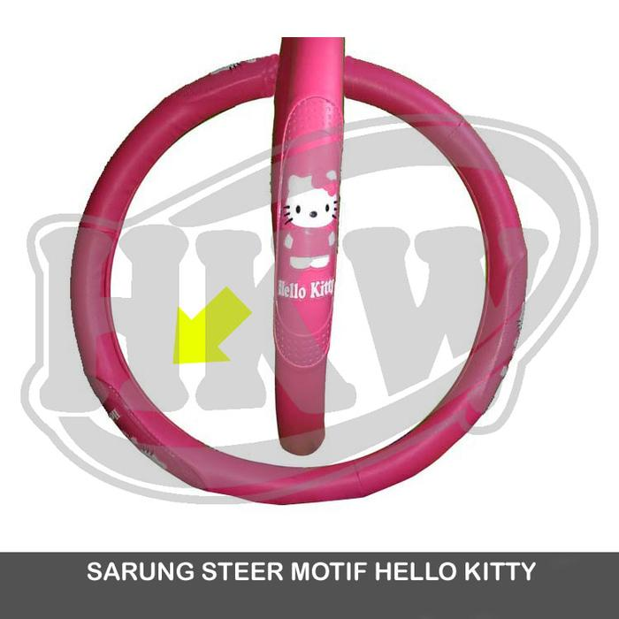 Sarung Cover Steer Motif Hello Kitty Mobil Captiva