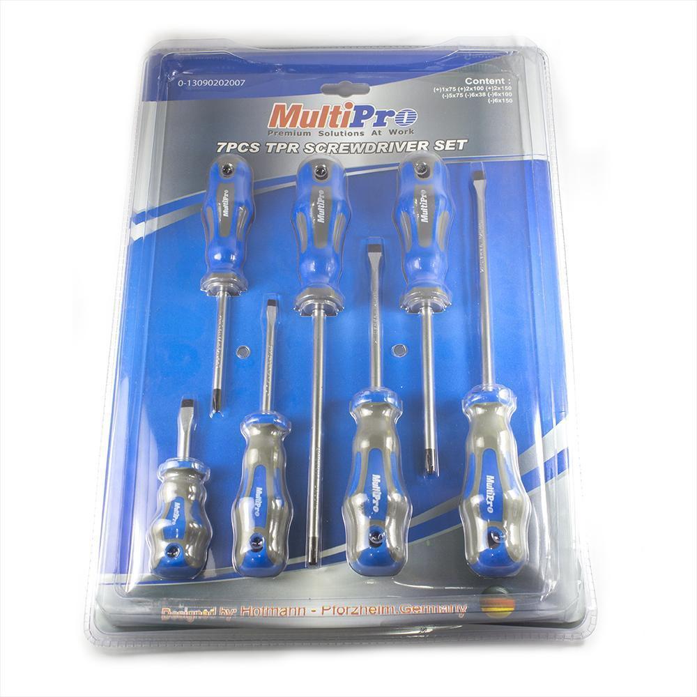 Multipro  Obeng Set 7 Pcs Magnet TPR SCREWDRIVER SET Bagus
