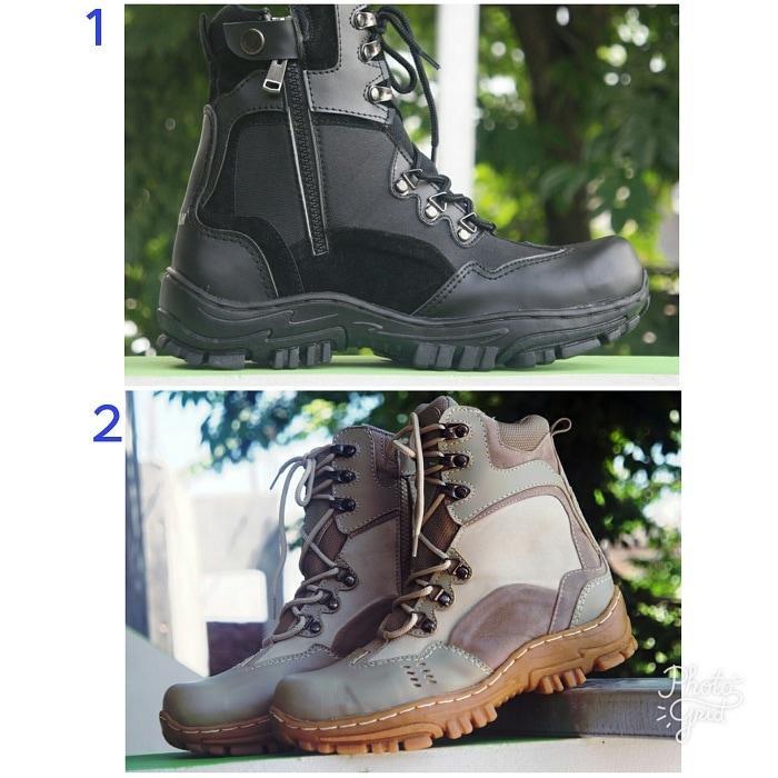 Promo Sepatu Pria Zim Zam Tactical Safety Boots Tracking Kerja Lapangan Diskon