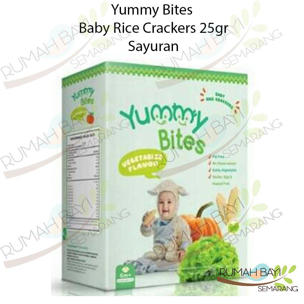 Yummy Bites Baby Rice Crackers Sayuran 25gr - Snack Sehat Bayi