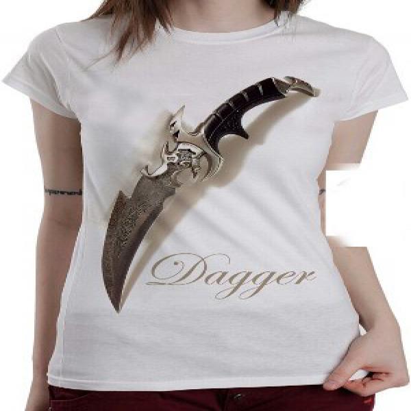 Kaos 3D dagger pisau belati