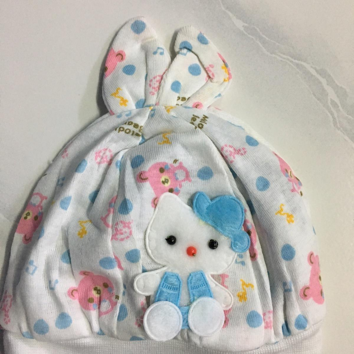 Beneva-topi bayi perempuan-topi bayi baru lahir-newborn-topi bayi
