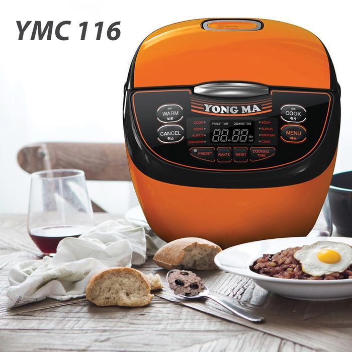 [ Yongma ] Rice Cooker Yongma Digital YMC 116 - Gold Iron. 2 Ltr