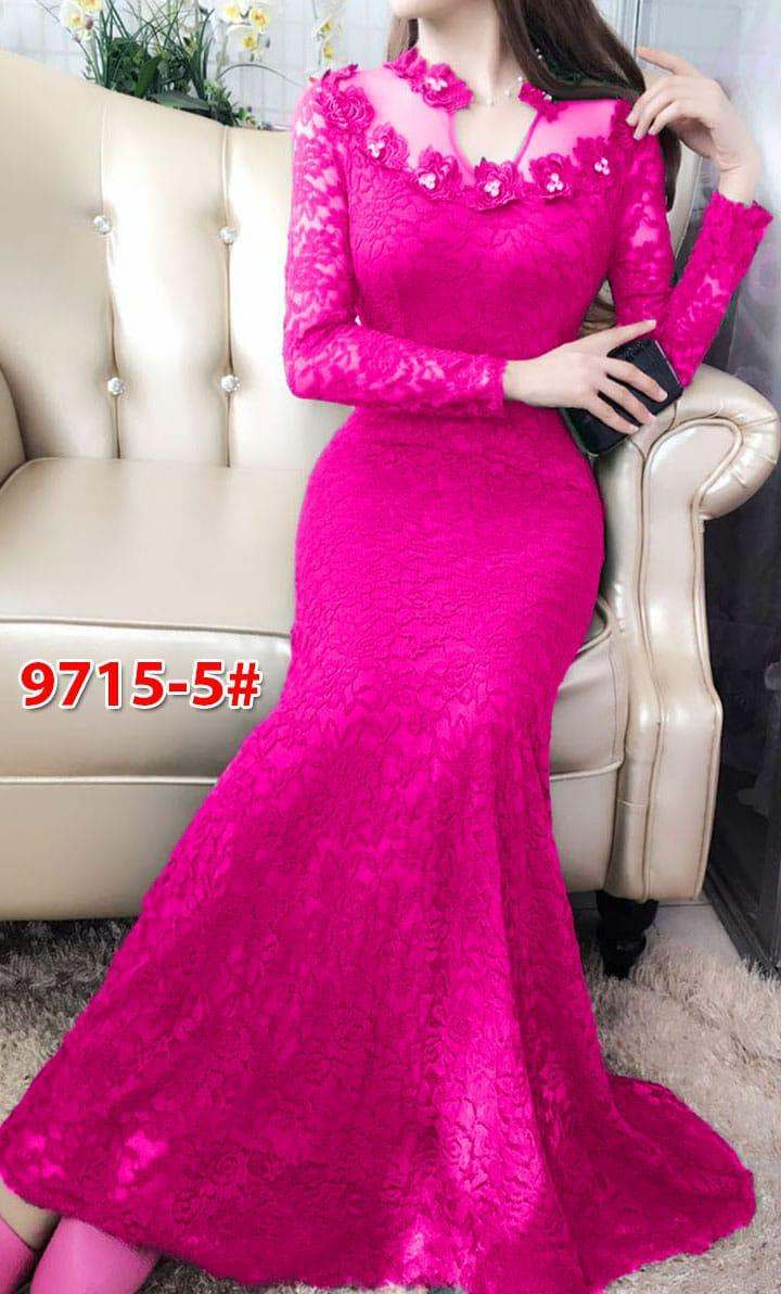9715-5# baju pesta import  / gaun pesta import / baju pesta brokat / longdress fashion / gaunpanjang