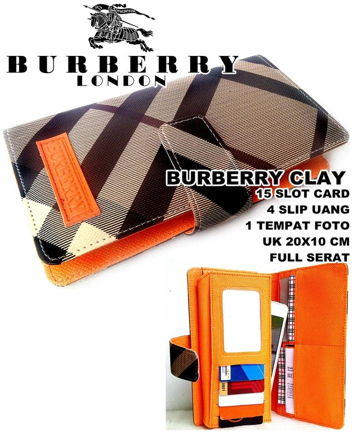 PROMO!!! DOMPET WANITA BURBERRY CLAY DARK ORANGE - SmfkJy