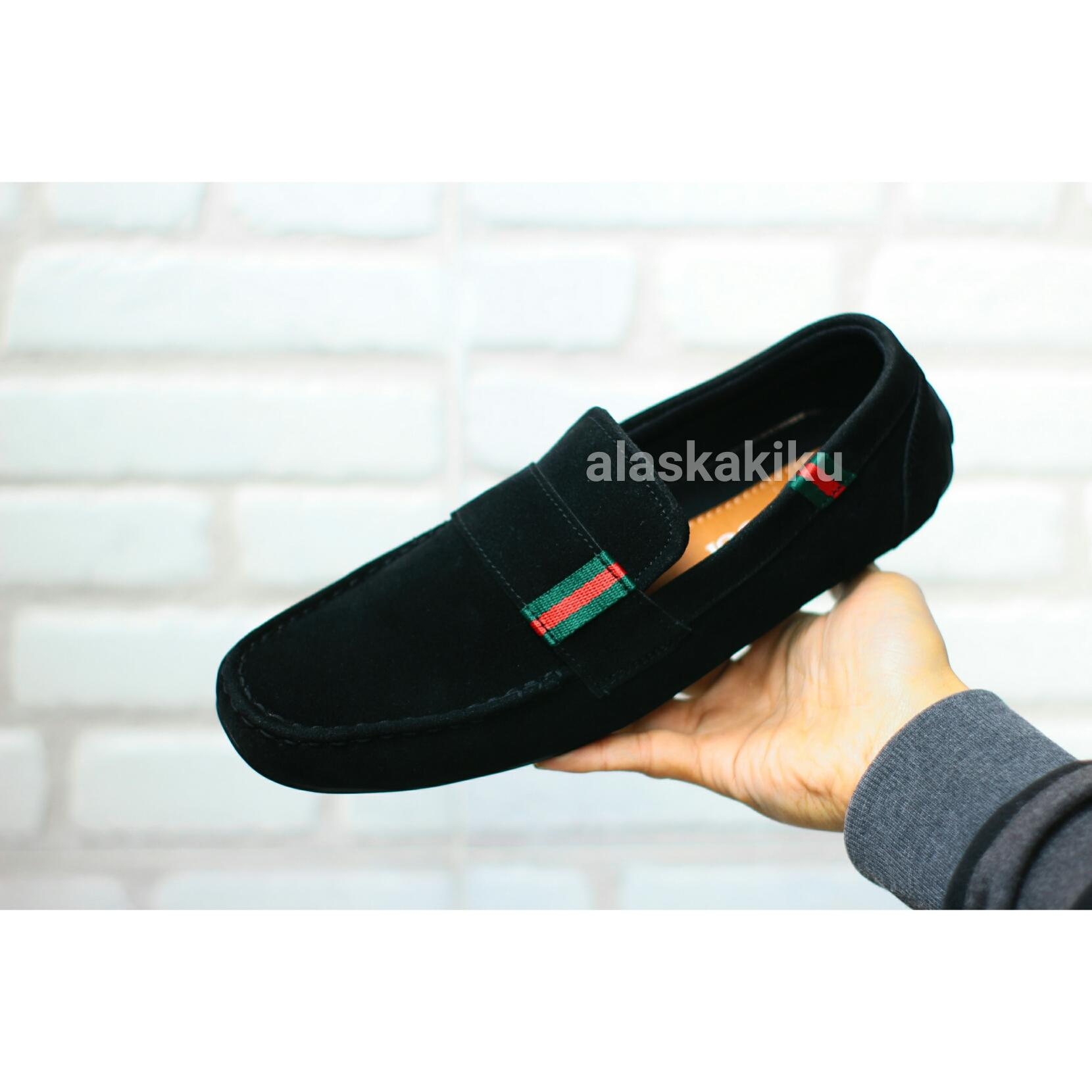 sepatu casual pria guci loafers kasual slop slip on gucci ( LOKAL ) kickers
