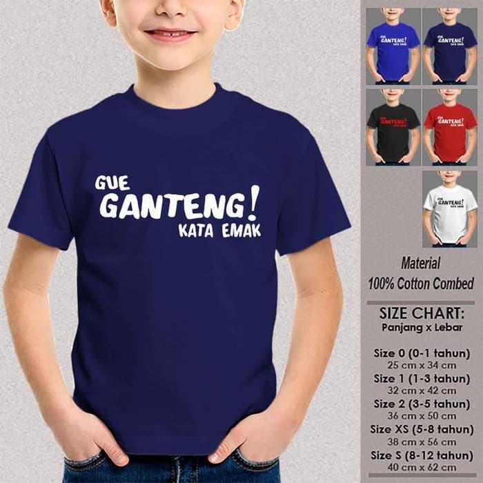 Kaos Baju Anak Tumblr SN-ASKTKT039 GUE GANTENG KATA EMAK 1-12 Thn - 3-4 tahun,Fashion Anak- Atasan Anak- Aksesoris Anak Keren - Pakaian Anak Best Seller - Sayang Anak