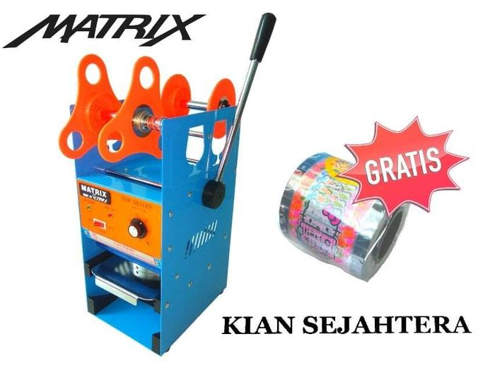 mesin press gelas aqua/ cup sealer ET-D8 bonus plastik