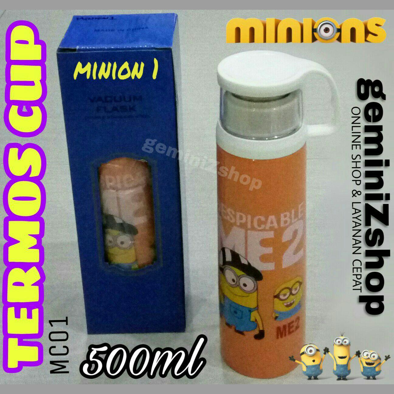Botol Air Minum Minion Travel Cup 250ml Daftar Harga Terbaru Dan Usupso 3022 Cloth Set Insulated Glass 300ml Merah Termos 500ml Mc01 Minion1