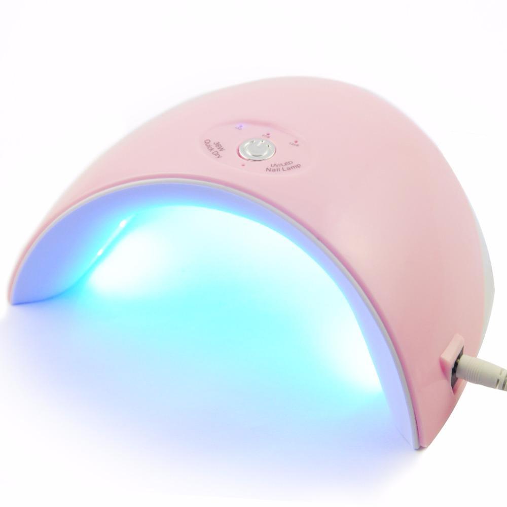 Móng tay Nghệ Thuật 36 W 12 LED UV Móng tay Máy Sấy Đèn Gel Acrylic Chữa Ánh Sáng Spa Chuyên Nghiệp Bộ Tích Điện Thông Minh màu hồng tốt nhất