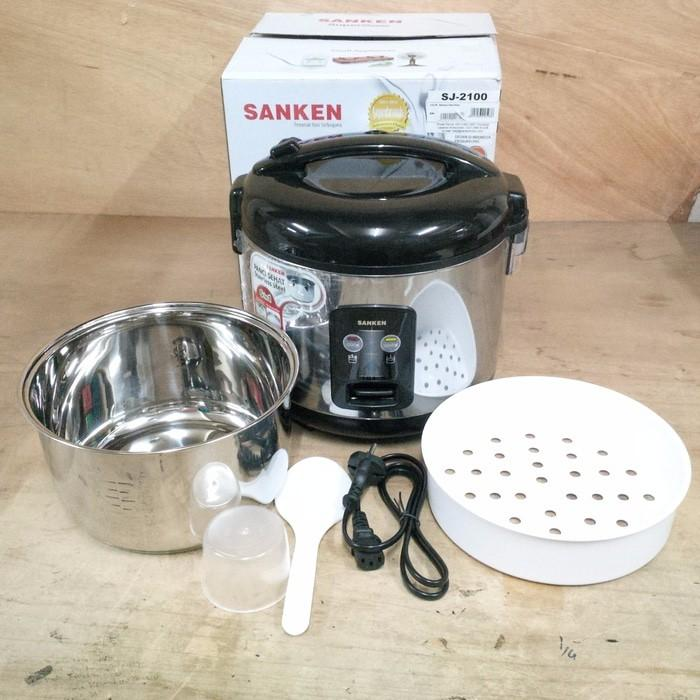 Sanken Magic Com Rice Cooker 1.8L Stainless Steel Sj2100 Sj-2100 - Kczn2v