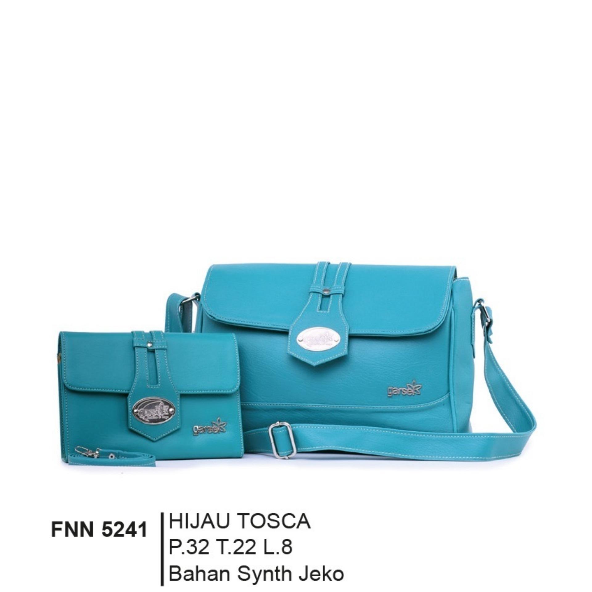 Garsel FOP 014 Tas Handbag Bisa Selempang Premium Wanita - Virotex - Keren - Brown Comb