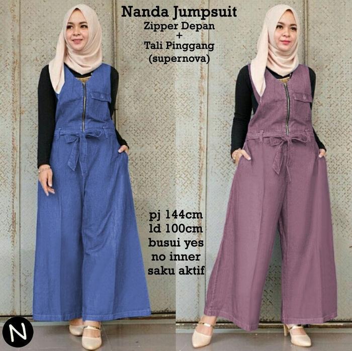 6881 nanda jumpsuit / baju muslim wanita / jumpsuit muslim/baju grosir / Baju wanita