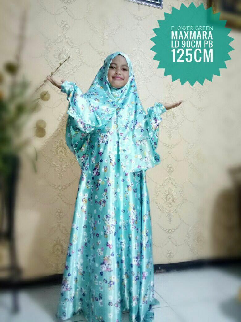 gamis/baju muslim anak perempuan size 9-12tahun tahun-bahan premium maxmara motif-klok 4m By Nurul Collection