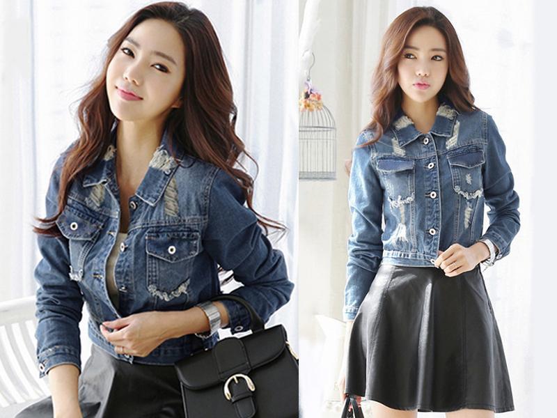 Detail Gambar My Straw - Jaket Jeans Vivera Premium Royal Blue Terbaru