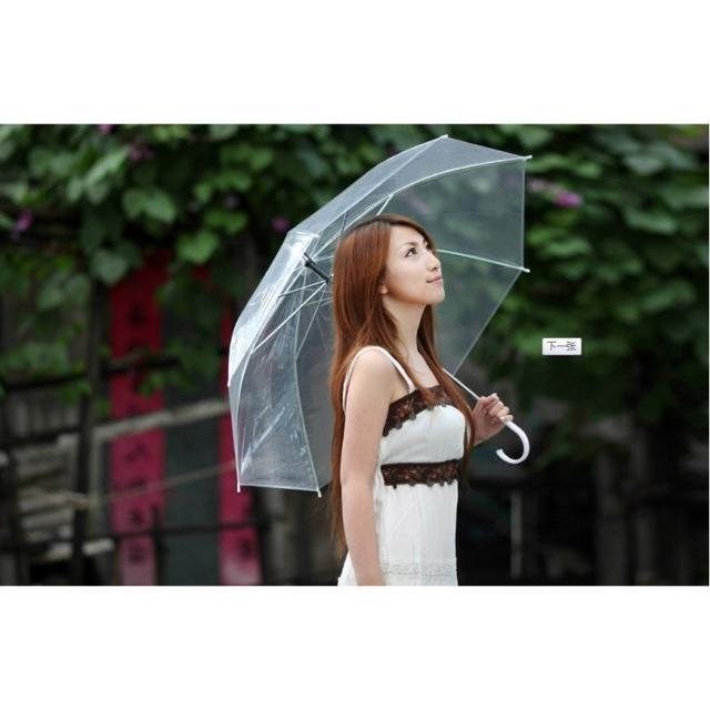 ... Payung Transparan Bening umbrella transparant Korea Japan Best Quality - 5