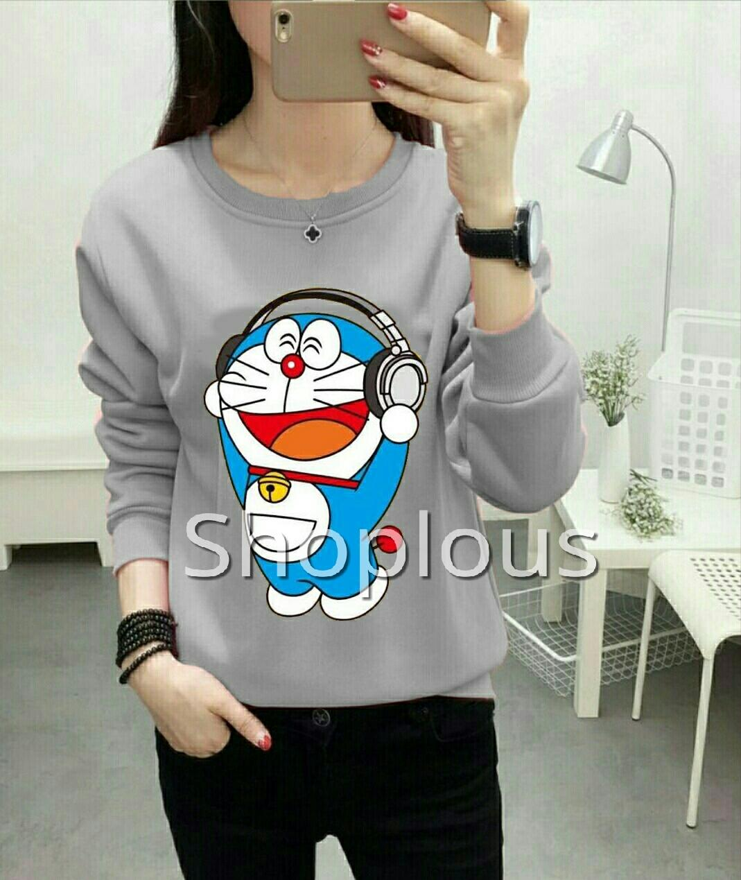 Shoplous Sweater Droaemon High Quality / Doraemon/ Sweater doraemon/ Sweater unik / Kaos Doraemon/ Koas murah / sweater Murah / Sweater berkualitas