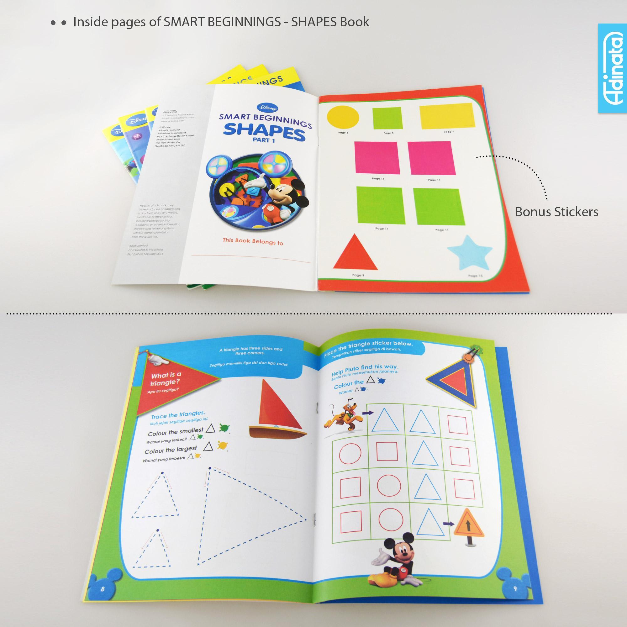 Buku aktivitas Disney Smart Beginning / activity book TK A-B (Shapes Part 1)