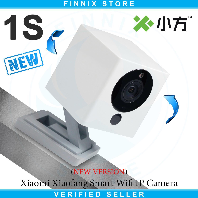 Xiaomi Yi Dome Camera 720p 112 Wide Angle 360 View Pan Tilt Control Xiaoyi Cctv 1080 1080p Full Hd International Mmc 16gb Xiaofang Small Squarebox Smart Wifi Ip White New 1s