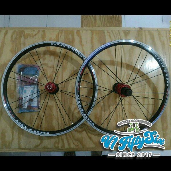 Wheelset Rims Sepeda Lipat 20 Inch 406 RT RUITUO K6 V Brake 74mm 130mm Dahon Fnhon Tern