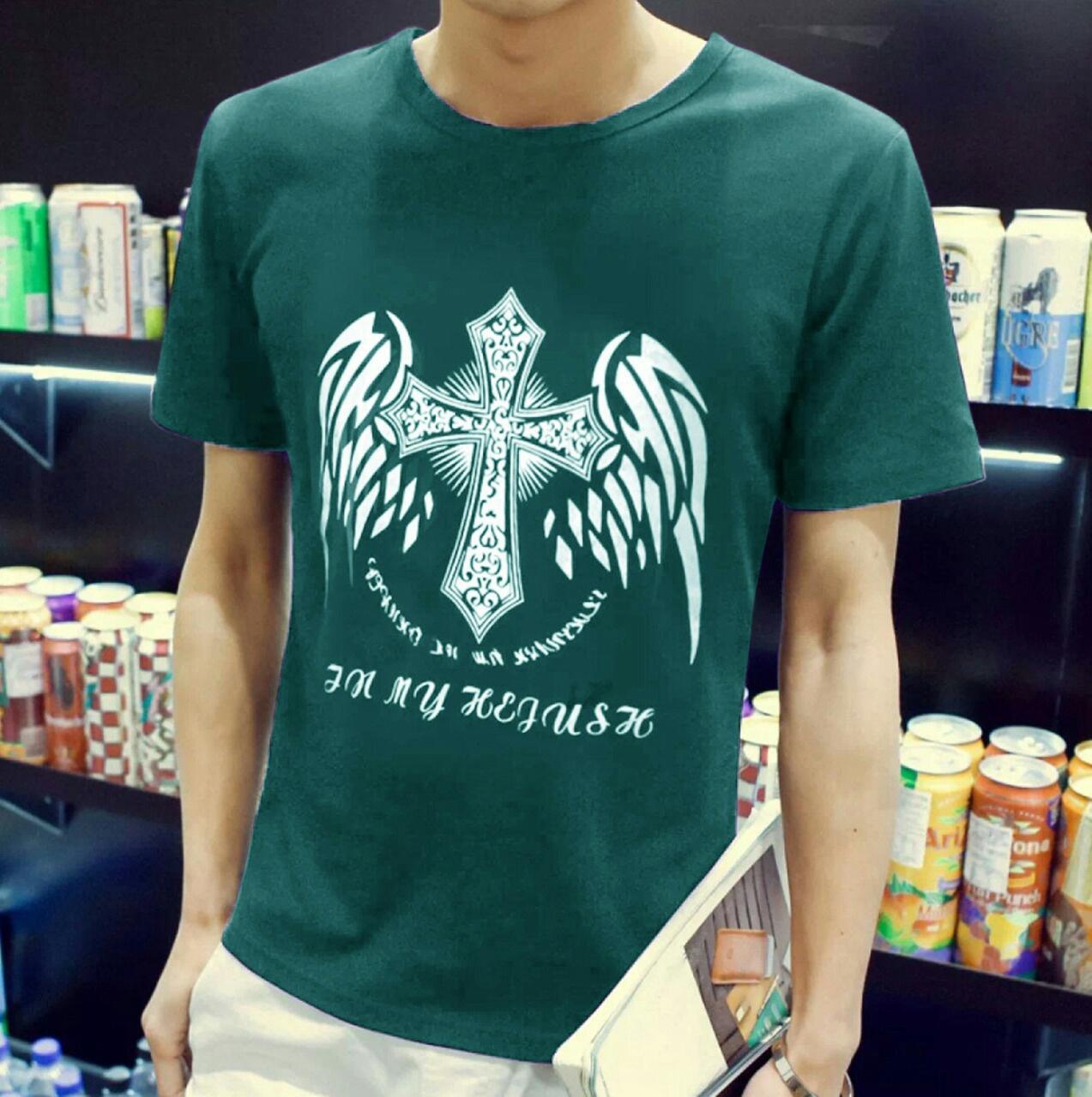 Popuri Fashion Kaos Vross - Spandek Lengan Pendek T-Shirt Atasan Pria Kaos T-Shirt Baju Murah Tshir