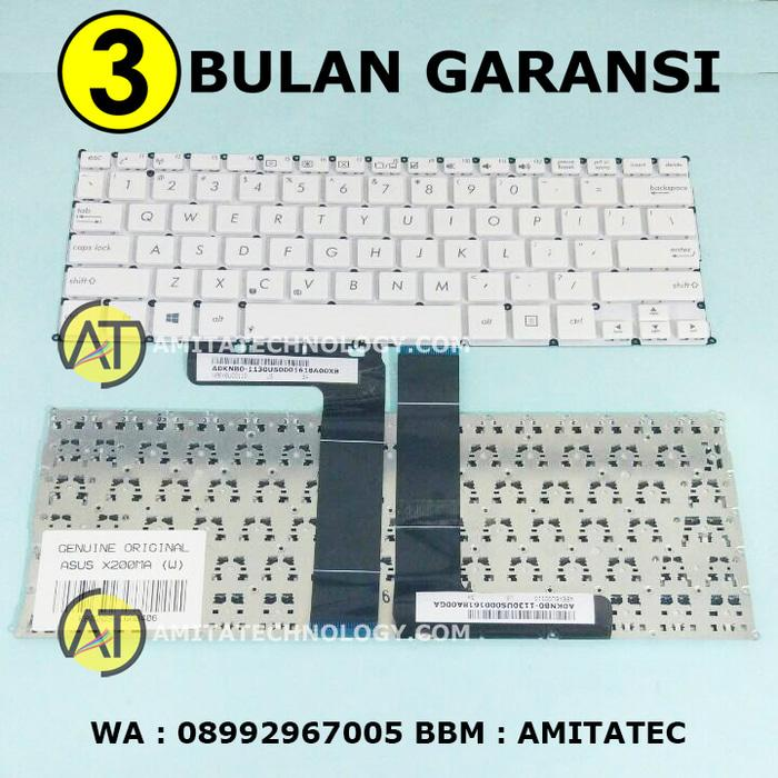 Keyboard Laptop ORIGINAL Asus X200 X200CA X200MA F200CA F200MA WHITE