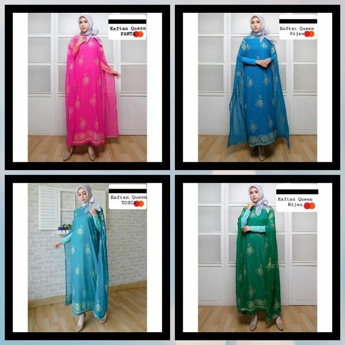 (JNH Shop)  Busana Muslim Gamis Kaftan Queen Baju Pesta Sari India Murah Xl Kt1