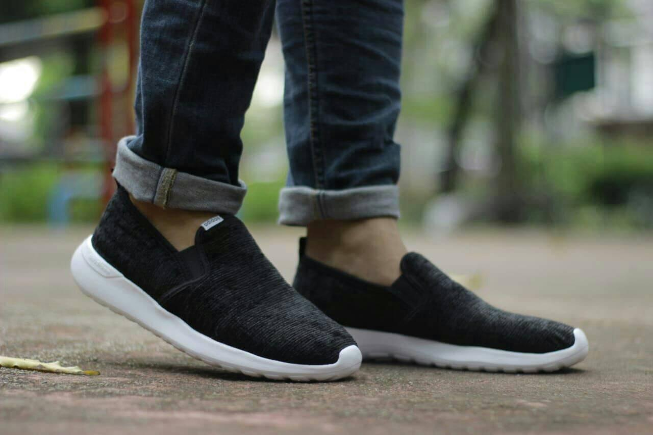 Fitur Sepatu Adidas Pria Cloudfoam Running Murah Olah Fashion Terbaru