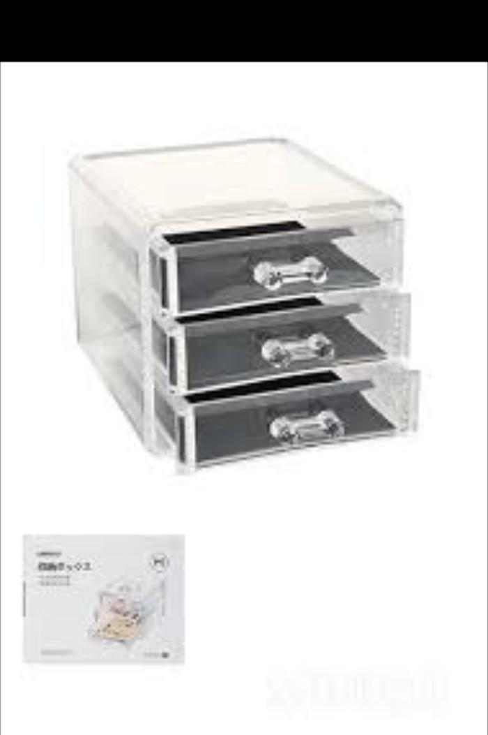 MINISO 3 drawer jewerly organizer / rak laci serbaguna 3 susun - DVDuNk