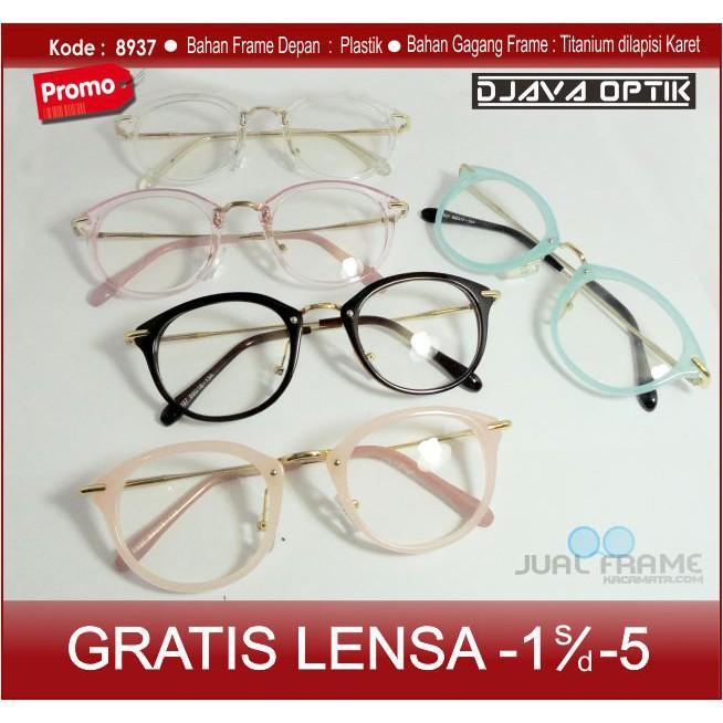Frame Kacamata Wanita Korea Retro Bening Transparan Clear Murah/ Kacamata Branded Bisa Pasang Minus