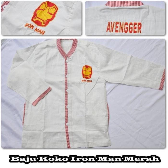 Baju Koko Iron Man Merah (Size S)
