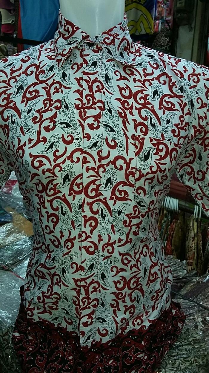 Buy Sell Cheapest Promo Terpopuler L8685 Best Quality Product Kemeja Batik Pria Prada Lengan Pendek 2 Layer Mlxl Motif Daun Biru