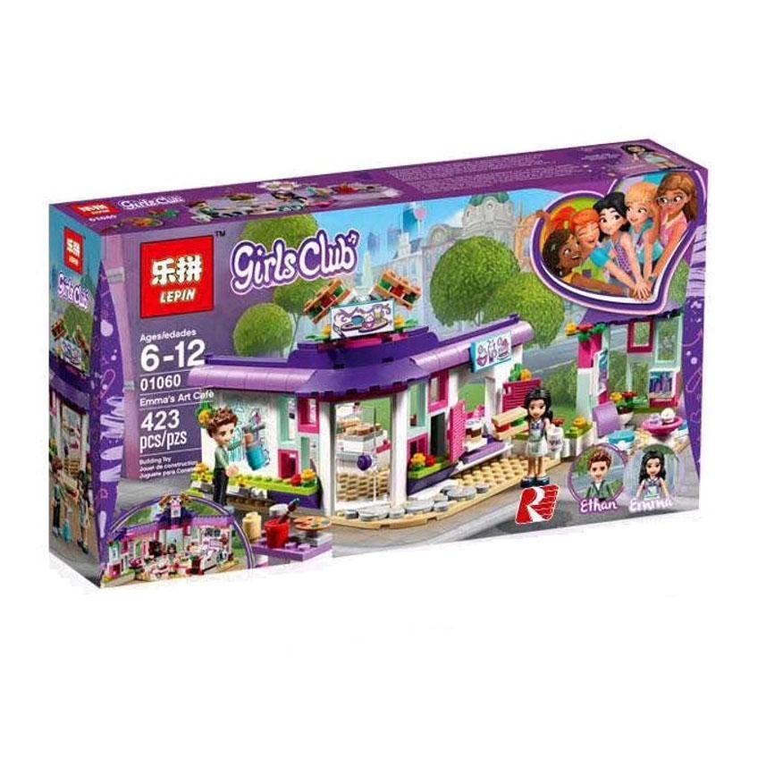 Mainan Lego KW merk LEPIN Friends 01060 Emma Art Cafe
