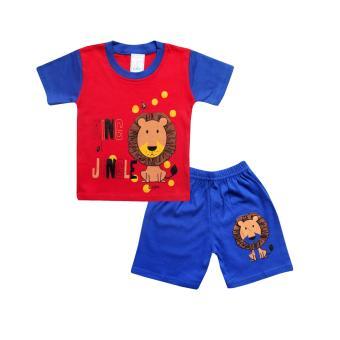 Harga preferensial SKABe Baby W/Tua Baju Oblong Tangan Pendek Anak Bayi Laki Setelan Kaos
