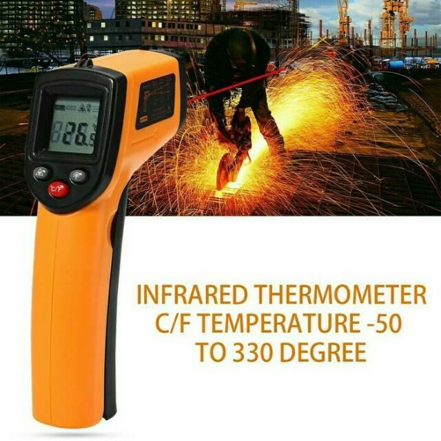 Alat Pengukur Suhu Panas Termometer Gun Infrared Sensor Digital Laser