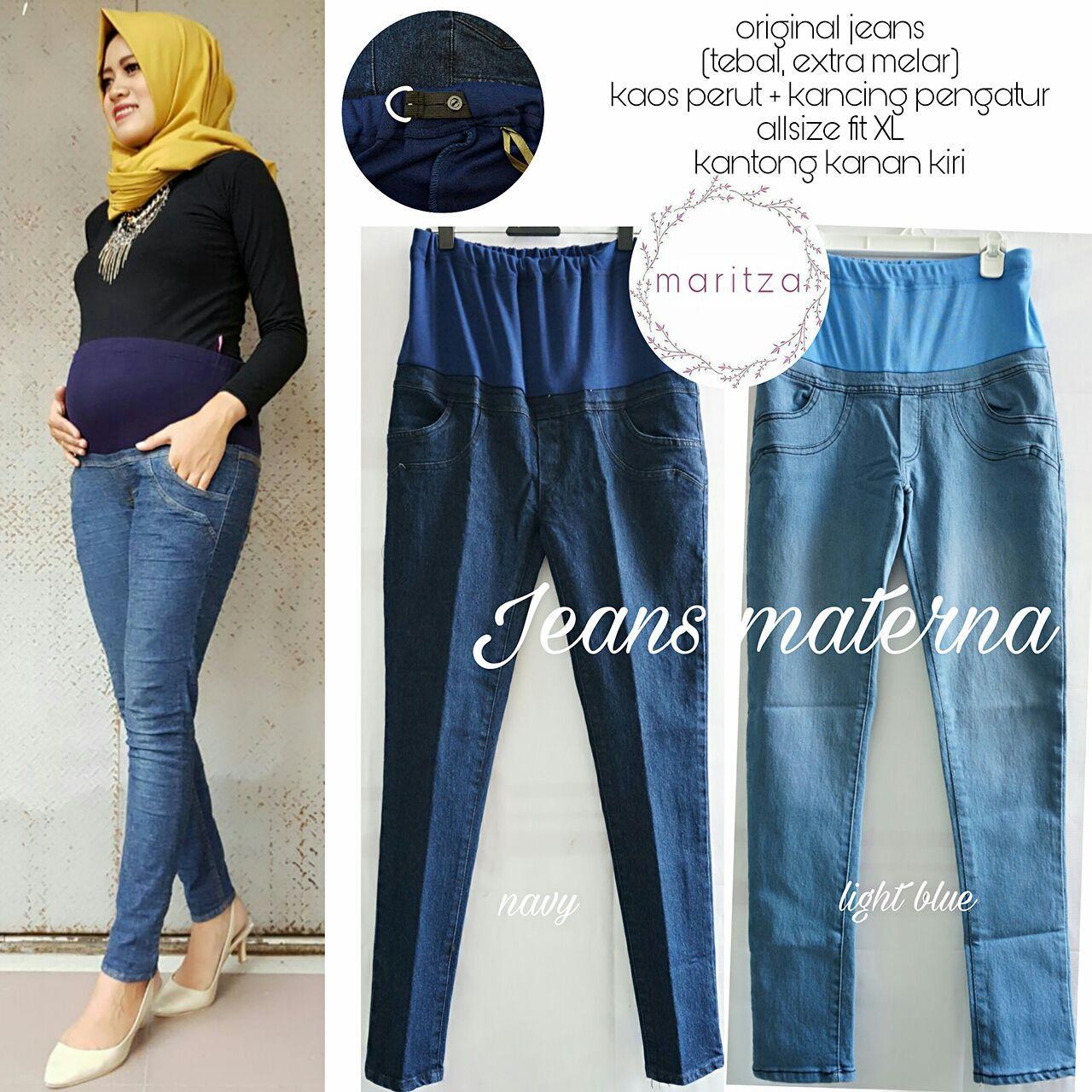 Celana Jeans Kasual Ibu Hamil / Jeans Denim