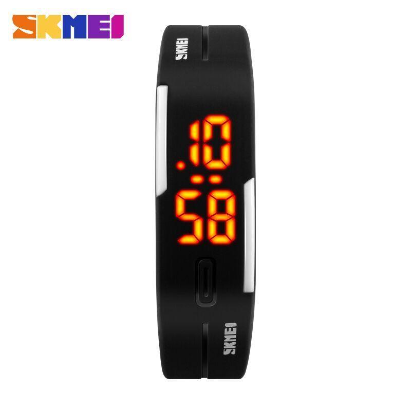 SKMEI Wristband Jam Gelang LED Jam Tangan Pria Jam Tangan Wanita Jam Tangan Gelang Jam Tangan Lari Running Sport Watches 1099A - Hitam