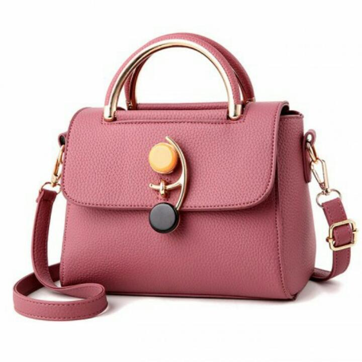 1ST-1021 Shoulder Bag Import Cantik Gaya Korea - Darkpink