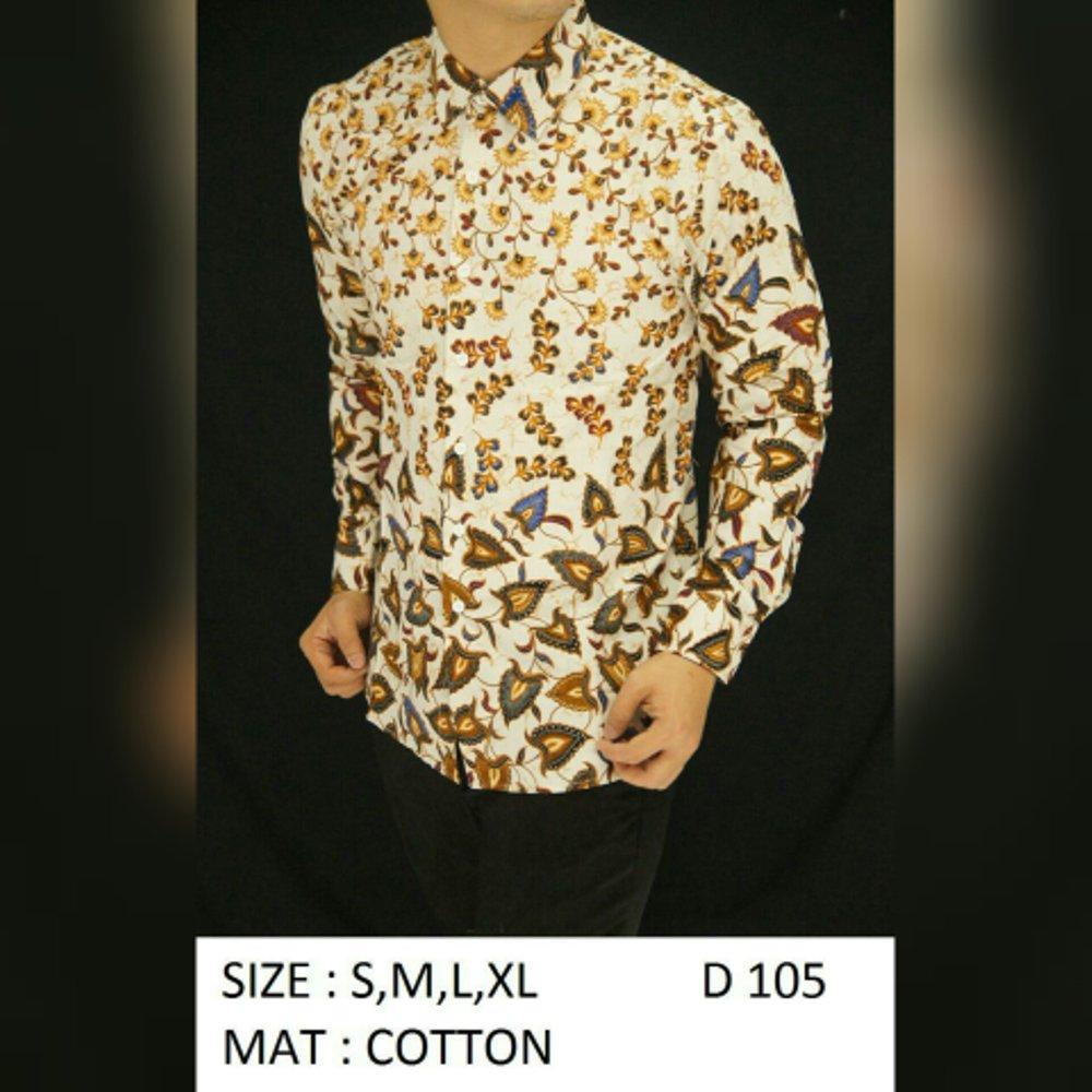 Baju Kemeja Batik Slimfit D105.  (fashion batik slimfit pria jas dasi kaos oblong tshirt jaket celana jeans hem couple pakaian muslim gamis dress blouse baju koko) di lapak New Trendy newtrendy
