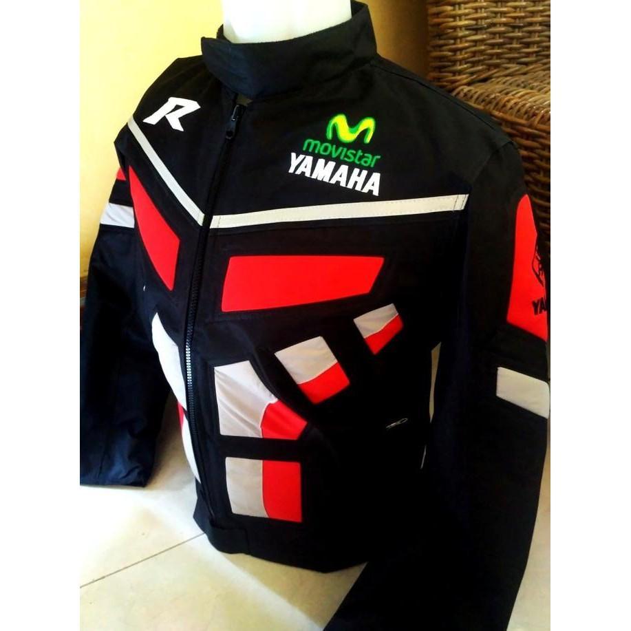 Jaket Protektor Motor/Touring Harian Club Yamaha Movistar Racing Red - Khnfolsi