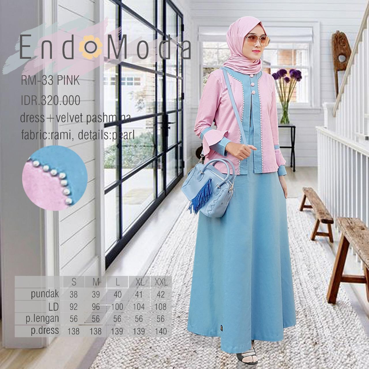 Gamis Endomoda RM 33 pink Tosca