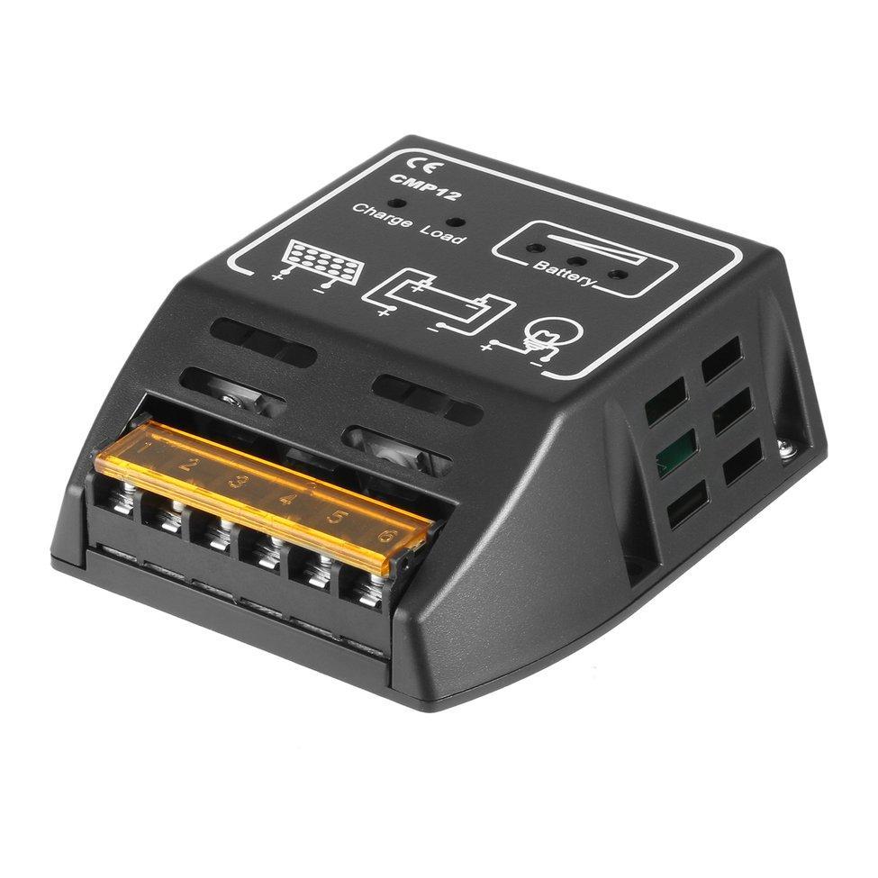 O Panel Surya Charger Kontroler Pengatur 10 Amp 12 V/24 V, AutoSwitch CE