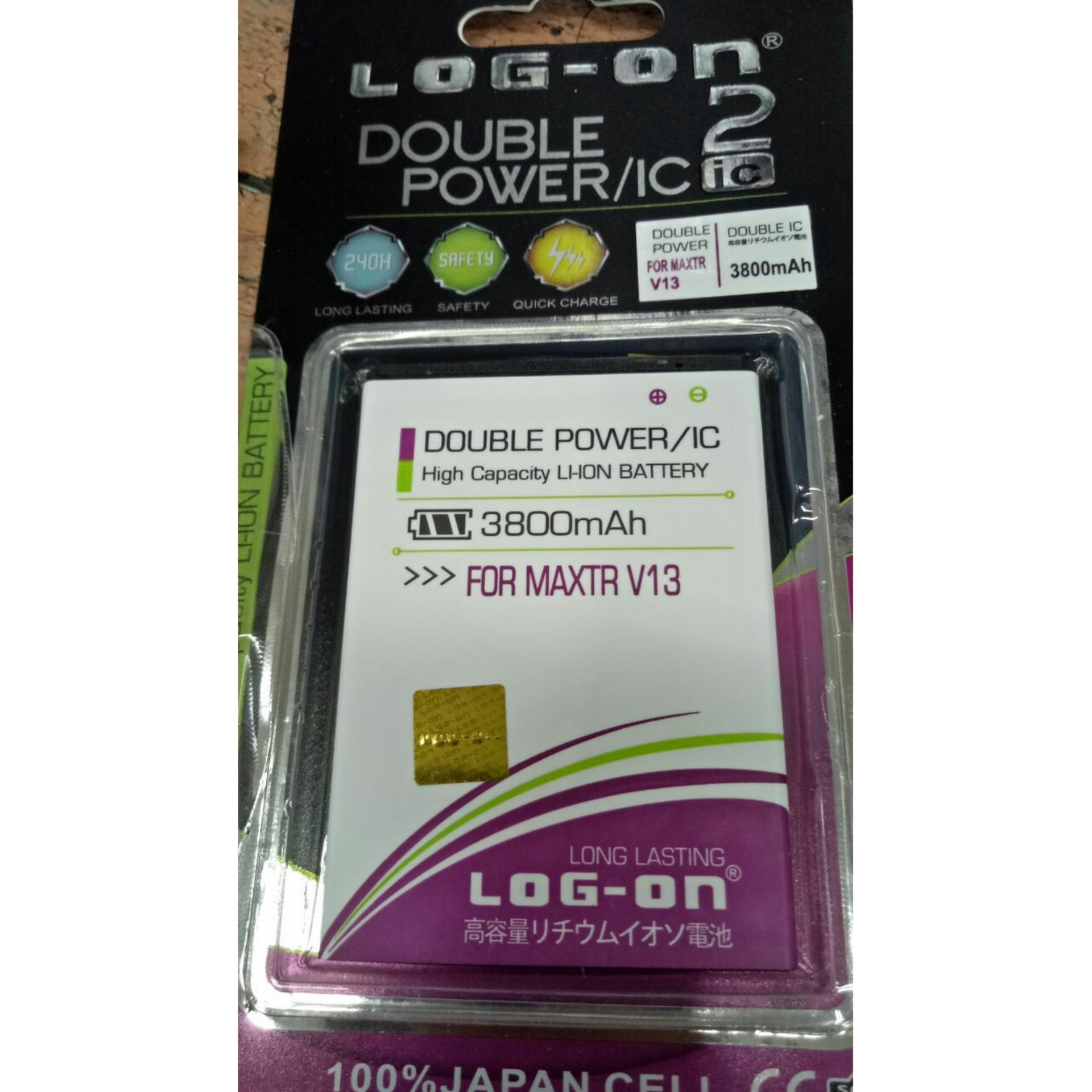 Batre Baterai Double Power LOG-ON Maxtron V13