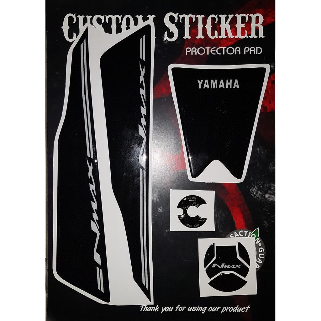Stiker Nmax N Max Pad Deck Dek Lengkap Tutup Tangki- Kunci Kontak Max T4561