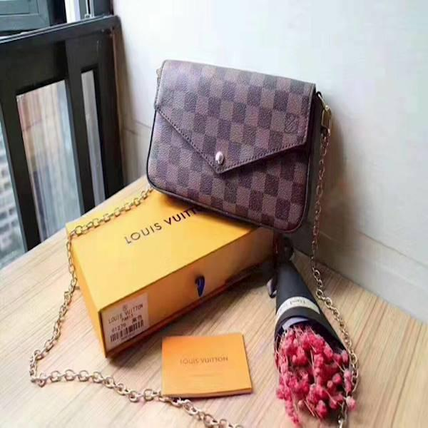 DOMPET LOUIS VUITTON CLUTCH SET 3IN1 61276 PREMIUM MURAH