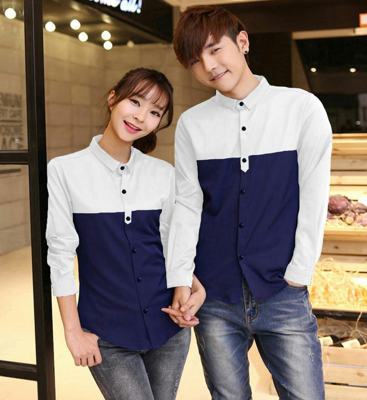 Couple Store - Kemeja Couple NP Lengan Panjang /Baju Pasangan /Atasan Couple / Baju Kapel